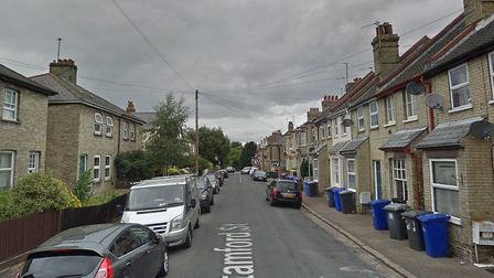 Four cars were damaged in Stamford Street in Newmarket, Picture: GOOGLE MAPS