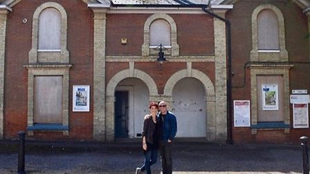 Glynne Gerrard and his partner Jessica Wilson transformed the abandoned train station (shown here wh