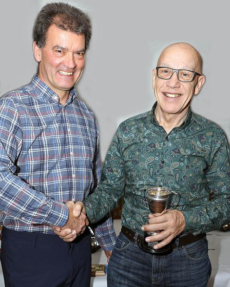 East Anglian VTTA Chairman Andrew Grant (left) with Geoff Perry (VTTA National Committee man) and th