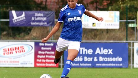 Paige Peake will play against England captain Steph Houghton during the clash Picture: ROSS HALLS