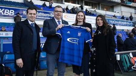 Lee O'Neil, left, general manager of football operations and Academy director for Ipswich Town FC, l