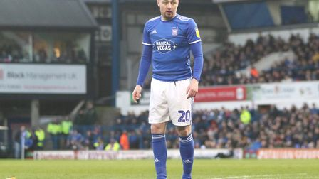 Freddie Sears pictured during Town's 4-1 defeat against Peterborough United at Portman Road Photo: R