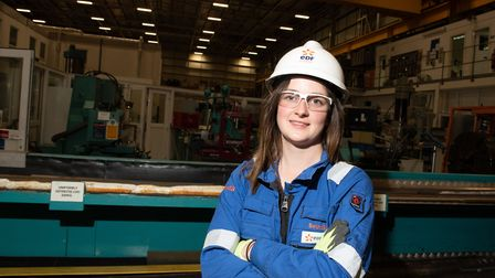 Apprentice Beth Gant at Sizewell B, which today celebrates its 25th anniversary. Picture: SARAH LUCY