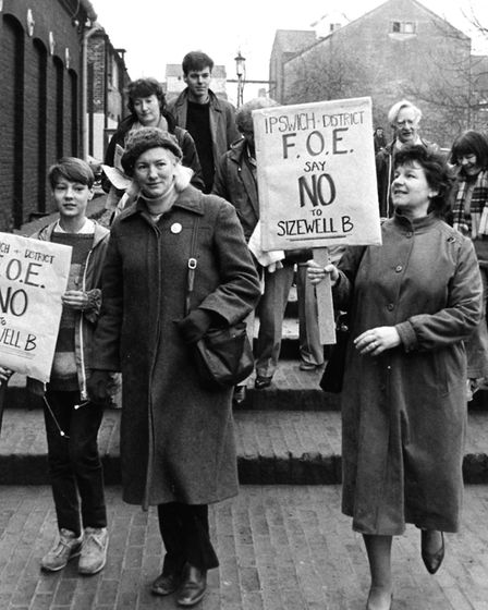 Protestors opposed the building of Sizewell B in the 1980s. Picture: ARCHANT LIBRARY