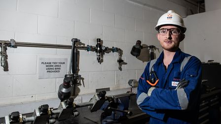 Gary Jackman, an apprentice at Sizewell B. Picture: SARAH LUCY BROWN
