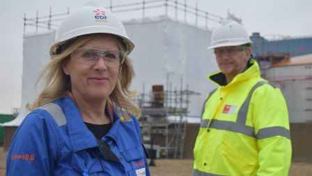 Kim Mann, contract manager at Sizewell B, with Paul Barber, senior supervisor for Altrad - which is