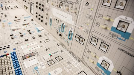 The reactor control room at Sizewell B has an array of complicted buttons and dials. Picture: SARAH