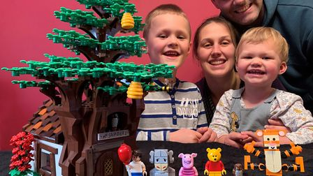 The Alder family are excited that Lego will be making their design Picture: BEN ALDER