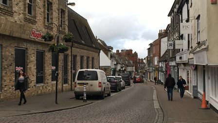 An idea has been mooted to close St John's Street in Bury St Edmunds to traffic on Saturdays Picture