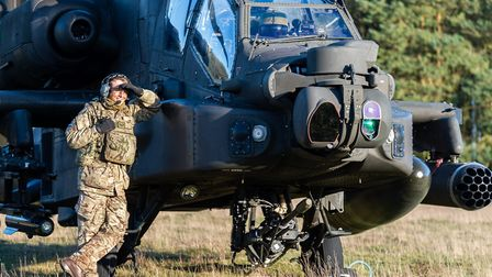 Troops from 3 Regiment Army Air Corps rehearse setting up a forward arming and refuelling point with