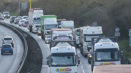Stock picture of traffic on the Orwell Bridge Picture: SARAH LUCY BROWN