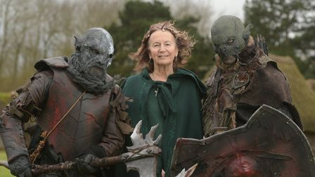 Elven Princess Eleandril and the Orcs at West Stow Anglo Saxon Village Picture: SARAH LUCY BROWN
