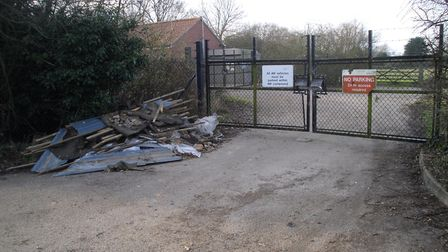 Mr Perry says the spot has frequently had industrial waste left on it in the past few years Picture: