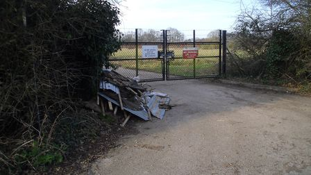 The flytipping found in Mill Lane, St Osyth, contained potentially hazardous material Picture: RICHA
