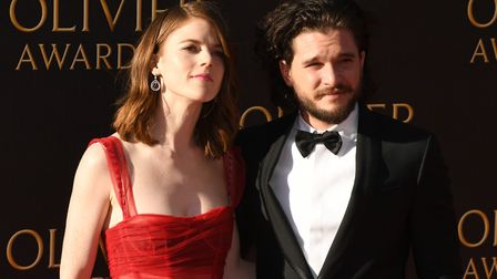 Rose Leslie and Kit Harington attending the Olivier Awards 2017, held at the Royal Albert Hall in Lo