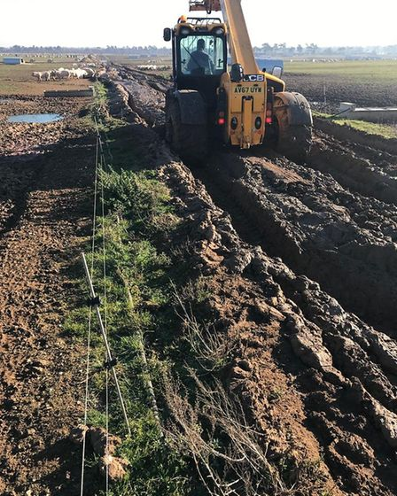 Muddy conditions on a pig farm - which are making the going tough for pig farmers Picture: JOHN HAR