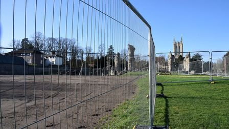 Work is due to start on digging up the old tennis courts in Abbey Gardens, Bury. The excavation work