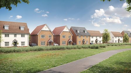 An artist's impression of how Orchid Grove in Haverhill will look. Picture: TAYLOR WIMPEY