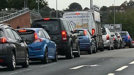 Gridlock on Ipswich Road Picture: COLCHESTER VIEWS
