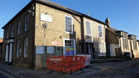 Redevelopment work is underway at the former Conservative Club in Framlingham Picture: ARCHANT