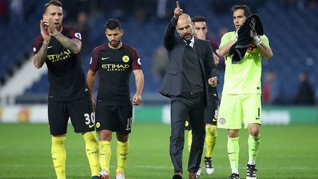 Nino Severino used a speech from Manchester City manager Pep Guardiola (centre) to launch his ground