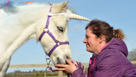 Children enjoyed a magical afternoon with unicorns at Kersey Mill Picture: SARAH LUCY BROWN