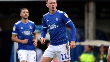 Jon Nolan pictured during Town's 4-1 win over Tranmere Rovers at Portman Road Picture: ROSS HALLS