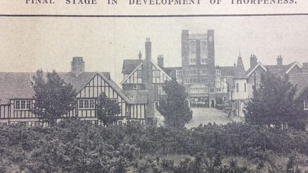 A view of the West Gate at Thorpeness in 1929, leading to the West Bar Picture: ARCHANT