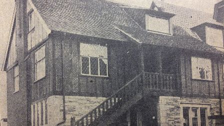 One of the recently-built houses in Thorpeness in 1929 Picture: ARCHANT
