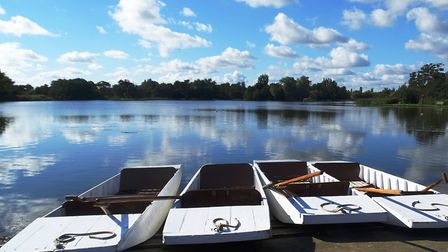 Reflections over Thorpeness Mere Picture: PAMELA BIDWELL