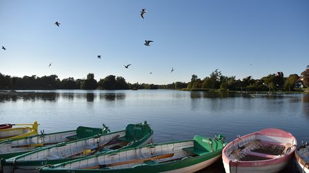 A sunny afternoon, looking across the river at Thorpeness Meare Picture: JANICE POULSON