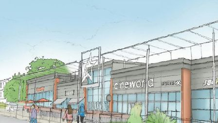 An impression of the new Cineworld front in Bury St Edmunds Picture: CHAPMAN TAYLOR