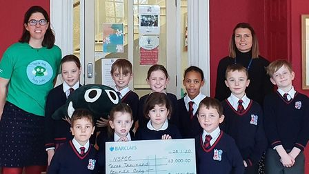 Finborough School near Stowmarket has raised more than £3,000 for the NSPCC. Picture: NSPCC