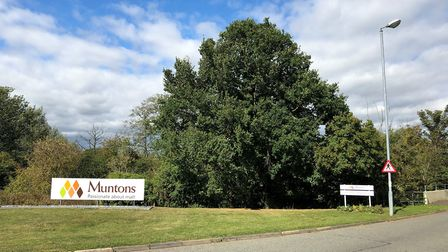 Crews have been called to a cladding fire at the Muntons factory in Stowmarket Picture: MARK LANGFOR