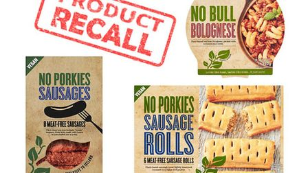 Iceland is recalling a number of its vegan products. Picture: SUFFOLK TRADING STANDARDS