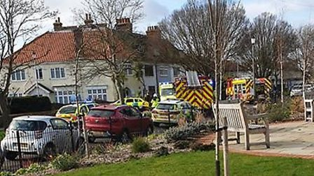 All emergency services are at the scene in Frinton Picture: CARL DOWN