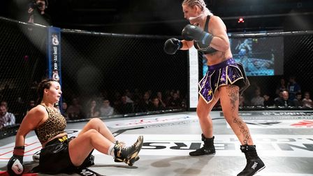 Carla McKenzie Le-Roy, right, looked good again on her way to a win at Contenders 29. Picture: BRETT