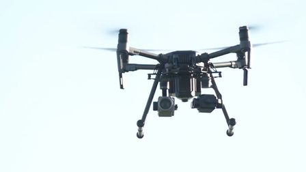 The fire service drone was sent up overnight (file photo) Picture: ESSEX POLICE