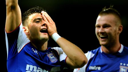 Aaron Cresswell marked his goal against Yeovil with an unusual celebration. Picture: ARCHANT