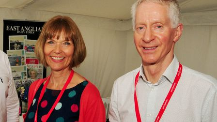 Judith Blatch and Richard Blatch at the Archant Hospitality Suite at the 2018 Suffolk Show. Picture: