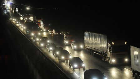 There are major delays on the A14 tonight due to an accident (stock image) Picture: ARCHANT