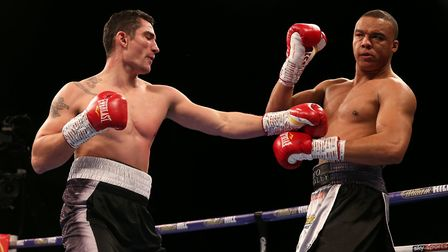Fabio Wardley, right, has won seven of his fights by KO. Picture: PA SPORT