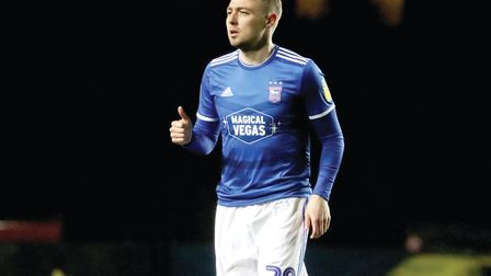 Freddie Sears pictured during Town's 0-0 draw with Oxford United at The Kassam Stadium Photo: ROSS H