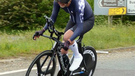 Andy Kennedy (Ipswich BC) winner of SPOCO East 50-59 age category, seen here at Woolpit in 2019. Pic