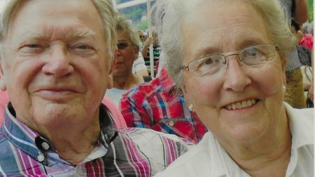 Robin and Cynthia Williams. They enjoyed European travel and in retirement he organised trips to Ita