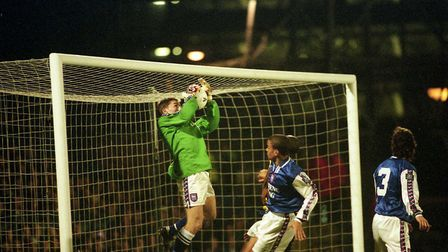 Matt Holland had to play in goal as Town beat Oxford United 5-2 at Portman Road in February 1998