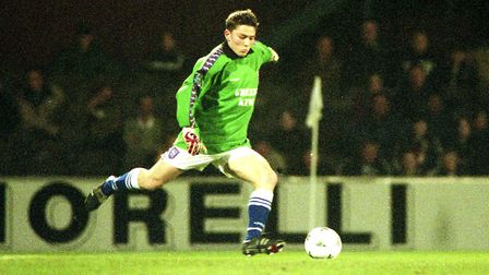 Matt Holland conceded a goal during his brief stint in goal. Picture: ARCHANT