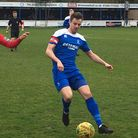 Bury Town defender Ollie Fenn, who returned to the side after a long absence with an ankle injury. P
