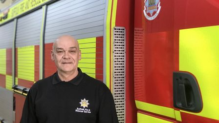 Derek Oxborough has retired from the fire service after 44 years. Picture: Victoria Pertusa