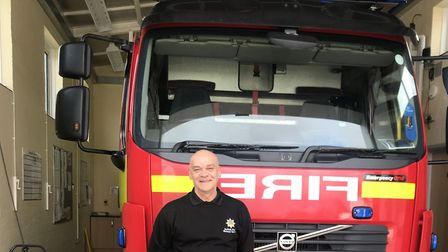 Derek Oxborough at Woodbridge Fire Station where he has spent over four decades Picture: Victoria Pe